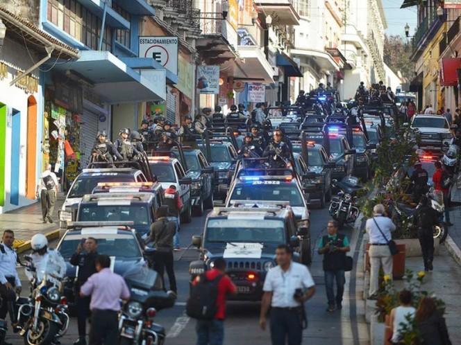 Elementos de la Gendarmería iniciaron sus funciones en Veracruz en marzo pasado para reforzar la seguridad en la entidad.