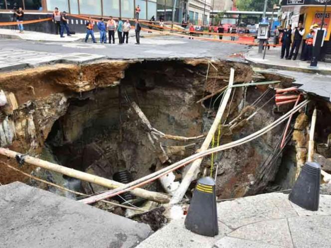 Gobierno de CDMX estima que tardará más de dos meses reparar socavón