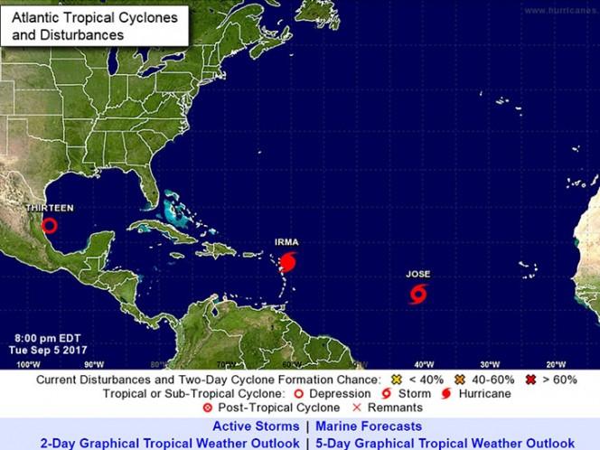 Tormenta tropical 'José' se forma en el Atlántico