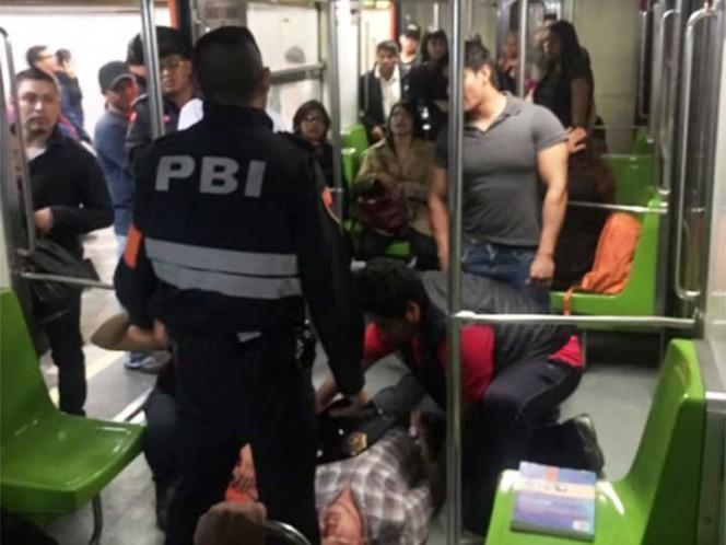 Detenidos, tras pelear en Metro y huir por vías