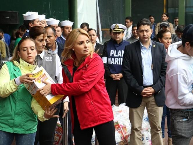 DIF recolecta tres mil despensas para afectados en Oaxaca y Chiapas
