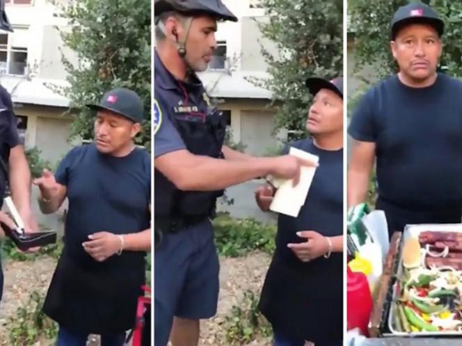 Viral: oficial multa y le quita dinero a vendedor