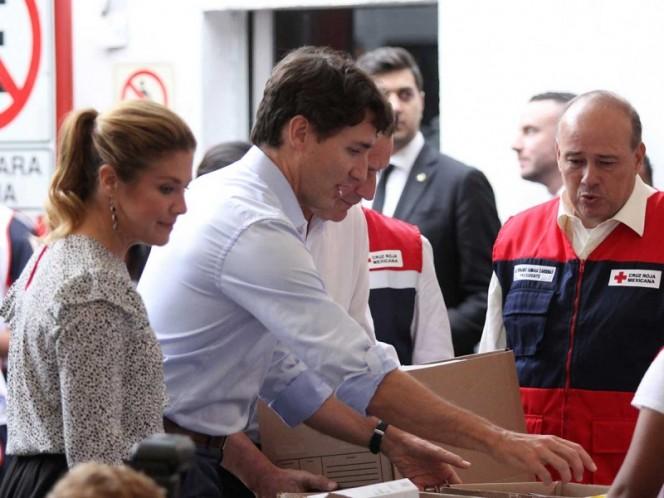 Justin Trudeau se suma como voluntario en la Cruz Roja Mexicana