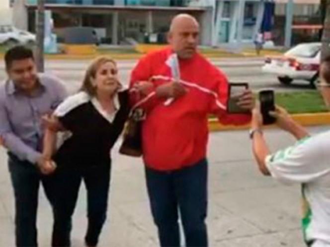 Circula video sobre detención ilegal de una mujer por ministeriales de Veracruz