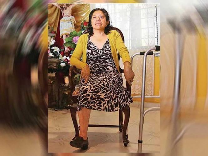 El 19-S, Hilda Corella tuvo un accidente en el andén de la estación Nopalera de la L-12, por lo que tuvieron que amputarle la pierna.