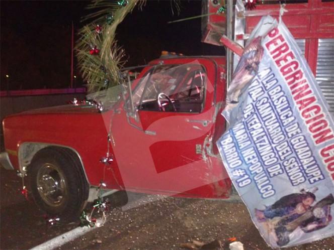 Mueren 8 peregrinos en accidente sobre autopista México-Puebla; permanece cerrada