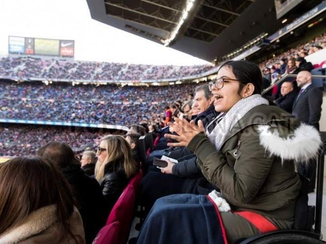 El viaje de su vida de Nujeen Mustafá, fiel fan del Barcelona