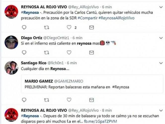 Balaceras,persecusiones y bloqueos en Reynosa, México