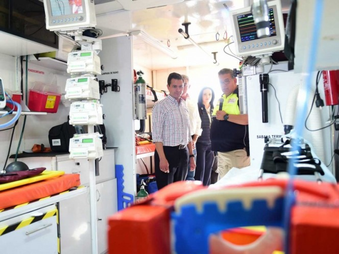 El presidente Enrique Peña Nieto en la entrega de la reconstrucción del Hospital General de Izúcar de Matamoros, en febrero pasado.