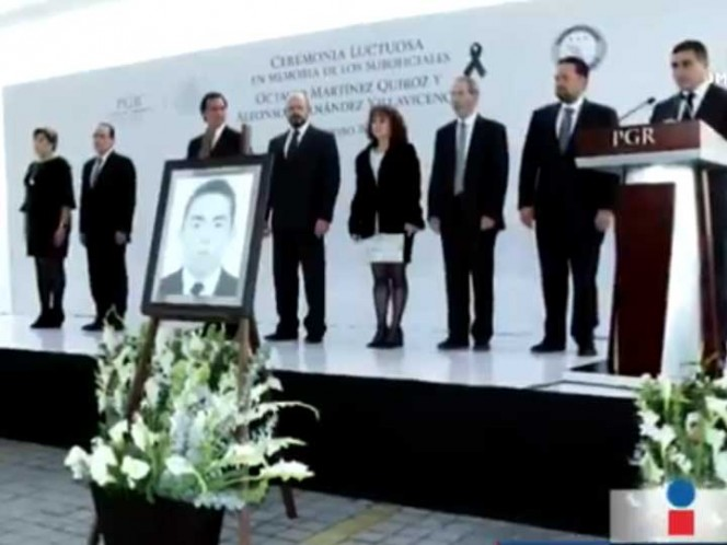 PGR rinde homenaje a oficiales asesinados
