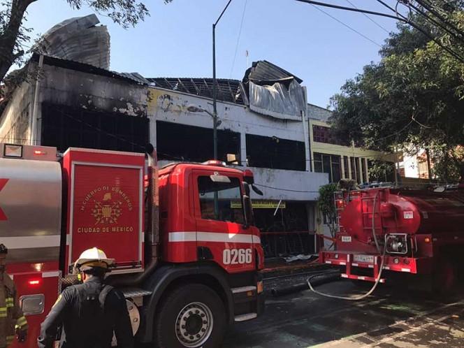 Se incendia fábrica de textiles en la colonia Anáhuac
