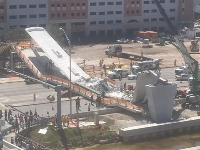 Se cayó un puente en Miami y hay varios muertos