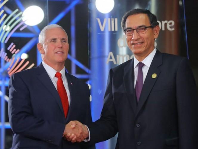 Pence cambia de agenda en Lima regresa a su hotel para comunicarse con Trump