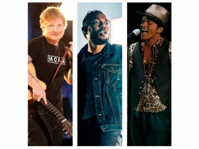 Lamar, Mars y Sheeran encabezan nominaciones a premios Billboard 2018