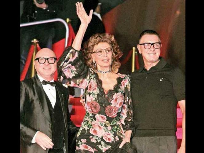 Sophia Loren, invitada de honor al desfile de Dolce & Gabbana en México