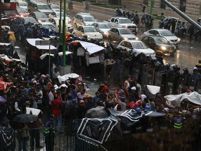 Reportan lluvia con granizo en 5 delegaciones