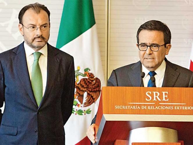 Luis Videgaray, secretario de Relaciones Exteriores acompañó a Ildefonso Guajardo, secretario de Economía, en la delegación diplomática en EU.