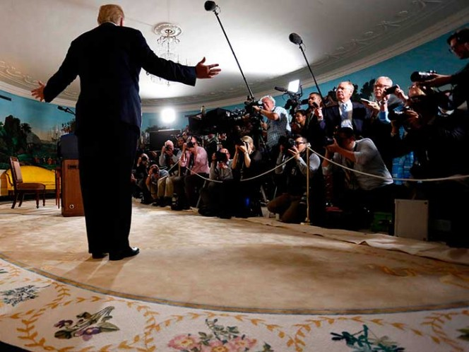 16:20Trump amenaza con retirar credenciales a periodistas de la Casa Blanca