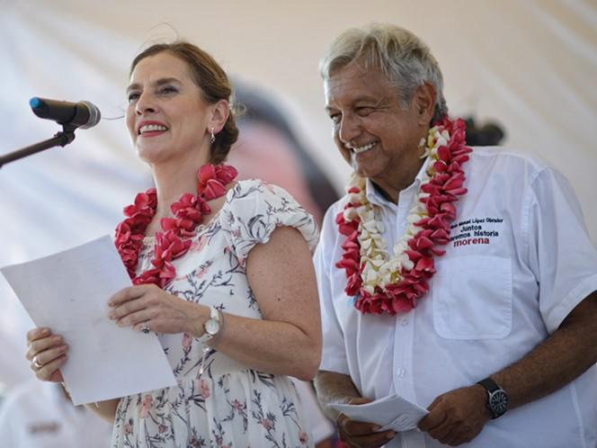 Beatriz Gutiérrez Müller, esposa de Andrés Manuel López Obrador, candidato a la Presidencia