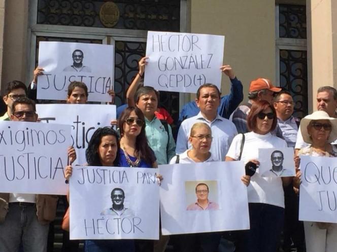 Protesta de reporteros en Tamaulipas por el asesinato de Héctor González Antonio