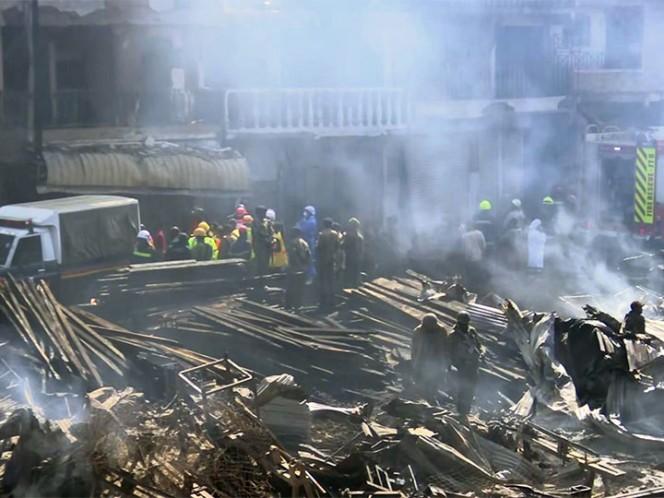 Aparatoso accidente en un mercado de Kenia deja 15 personas fallecidas