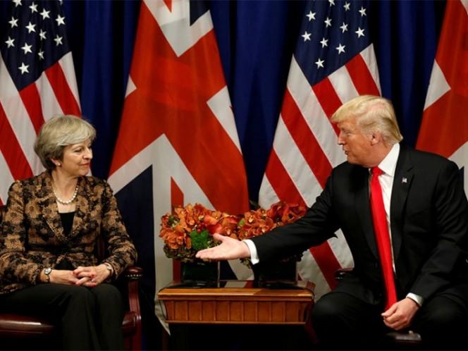 Durante visita del presidente de EEUU a Londres volará un 'bebé Trump'