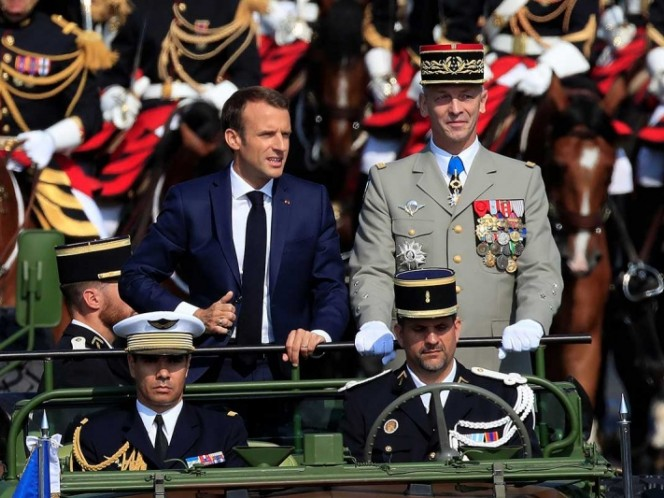 Así festejó Emmanuel Macron el título de Francia