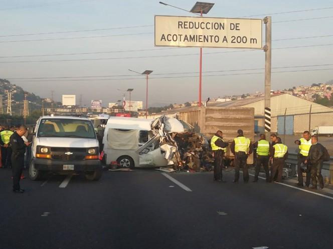 Reportan 12 muertos tras accidente en la México-Pachuca