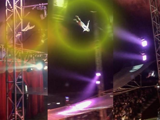 Un hombre bala le erró al blanco durante un show de circo