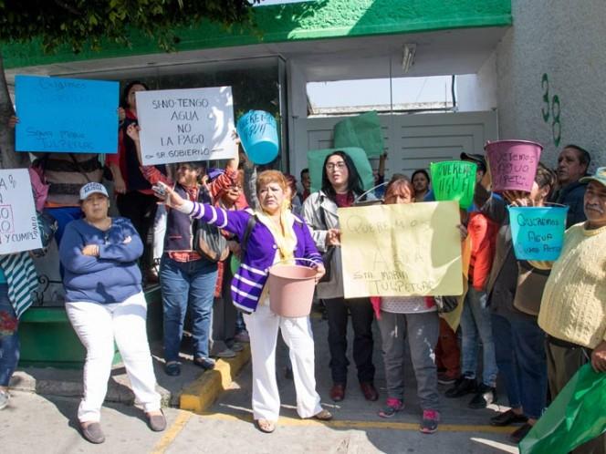 Continúan sin agua en Ecatepec