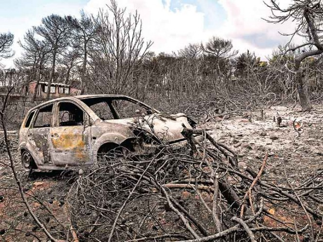 Apuntan indicios de que incendios en Grecia fueron premeditados