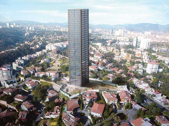 El desarrollo inmobiliario La Colina 278 proyectó una torre de 34 niveles, cuando el uso de suelo es sólo para cuatro niveles. Foto: David Solís