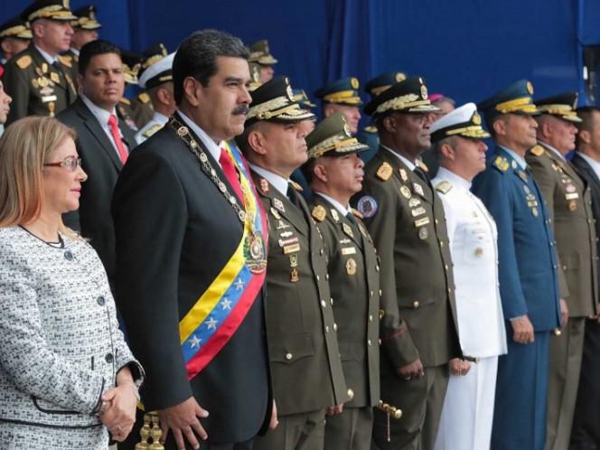 Marchan en apoyo a Nicolás Maduro tras supuesto atentado