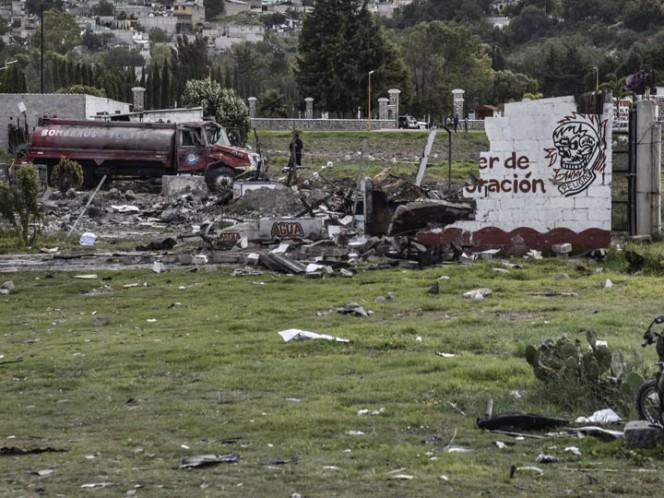 Combinación de químicos, causa de explosiones en Tultepec
