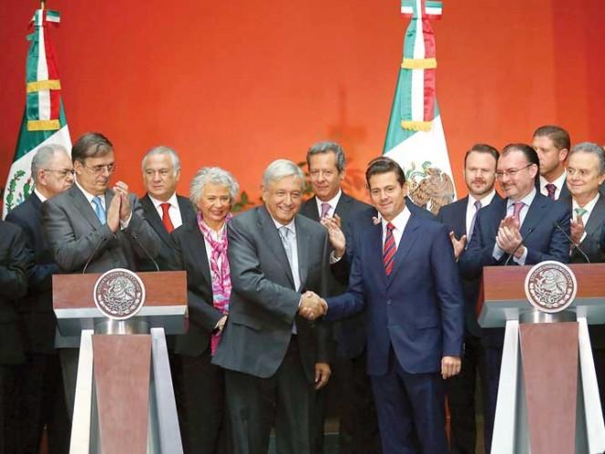 El presidente electo, Andrés Manuel López Obrador, dijo que la actual es una transición institucional y, también,  es una transición respetuosa, gracias al apoyo sin condición del presidente Enrique Peña Nieto. Foto: Karina Tejada