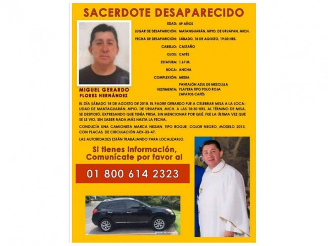 They find a lifeless, lost priest in Michoacán