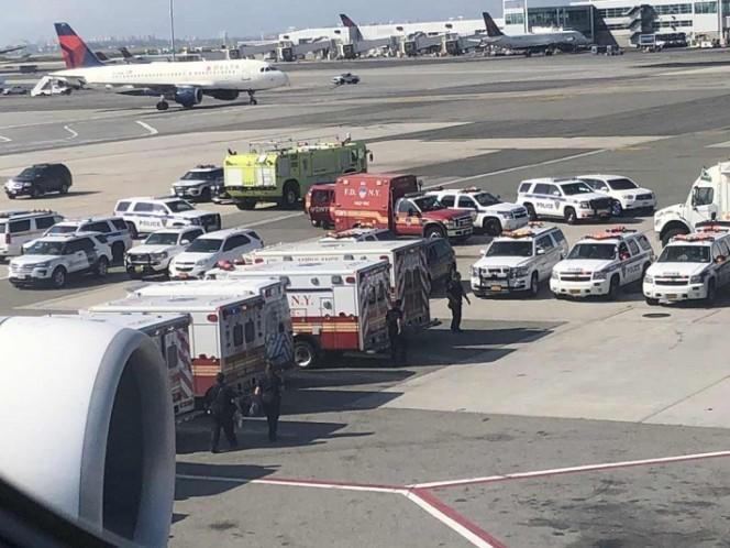Pusieron en cuarentena avión tras aterrizar en Nueva York