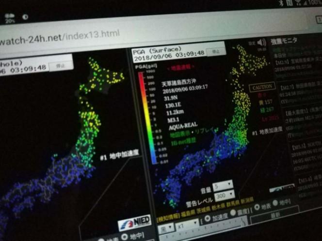 Japón: Los primeros videos del terremoto de magnitud 6,6 en Hokkaido