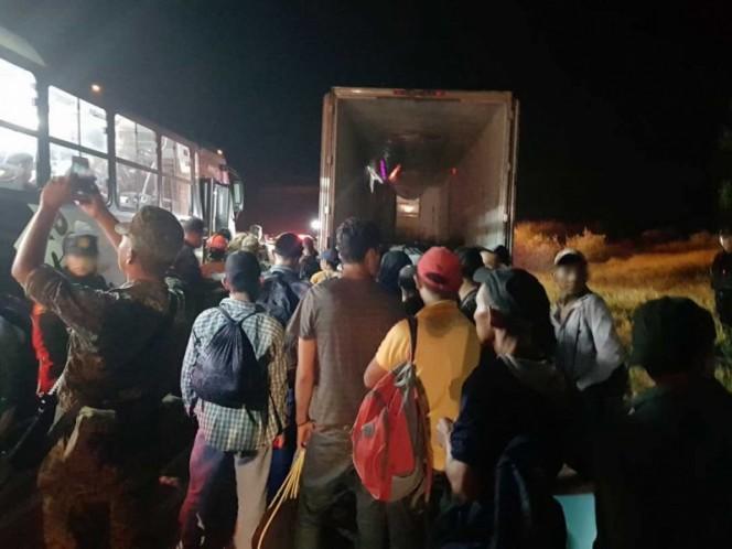 Rescatan a 117 indocumentados en General Bravo