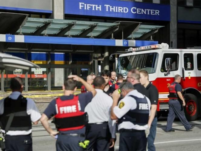 Tiroteo en banco de Cincinnati; 2 muertos y 5 lesionados