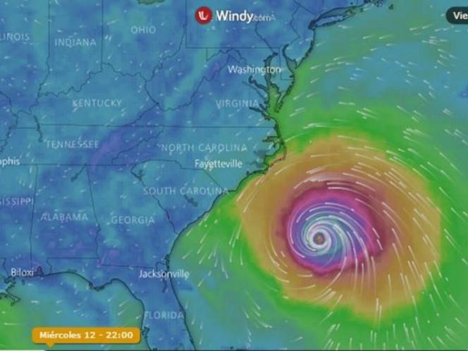 Así quedaría Carolina del Norte tras el paso del huracán Florence