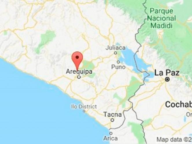Perú registra sismo de magnitud 5.8 grados en región de Arequipa