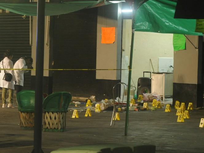 Balacera en plaza de Garibaldi deja tres personas muertas