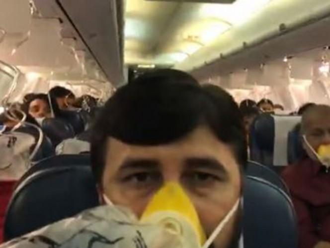 Pasajeros de avión empezaron a sangrar una hora después de despegar