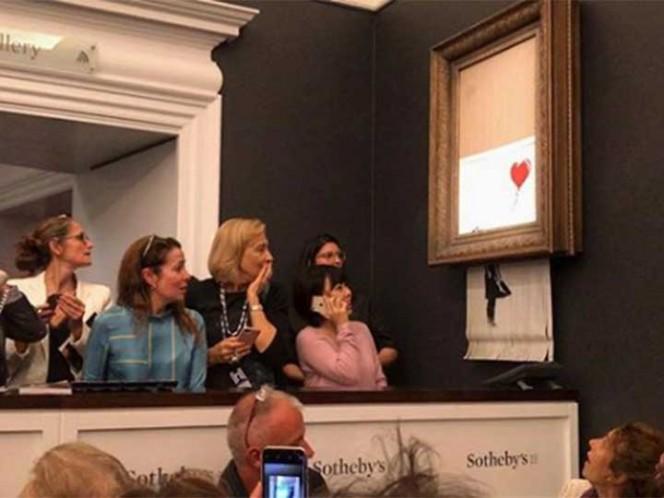 Así preparó Banksy la autodestrucción de su 'Niña con globo'