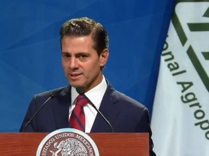 Gobierno entrega sector agroalimentario en plena expansión, destaca Peña Nieto