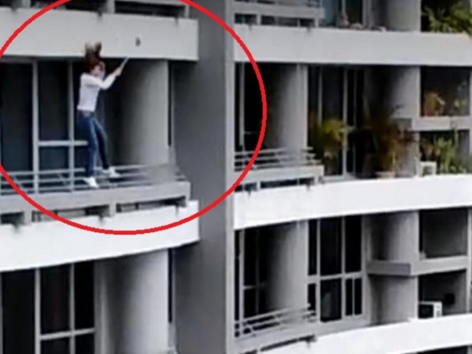 Cayó del piso 27 al intentar sacarse una selfie