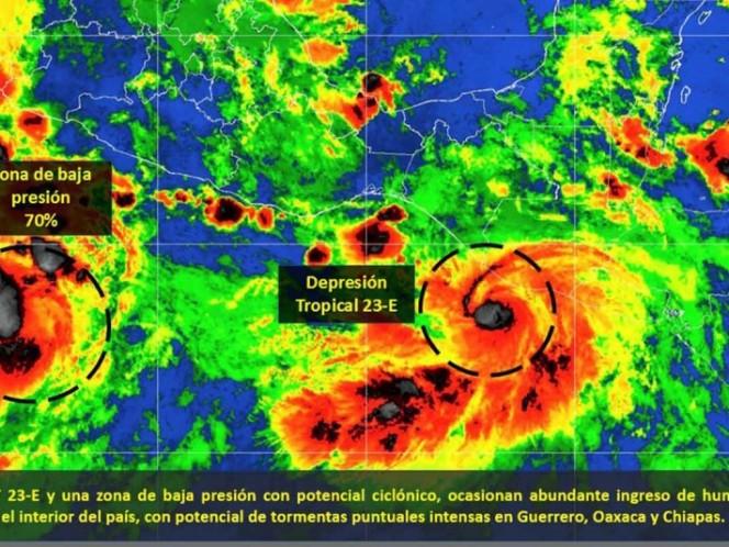 Se forma la Depresión Tropical 23-E en el Pacífico