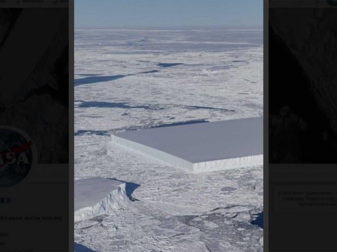 NASA descubre un iceberg que parece cortado deliberadamente