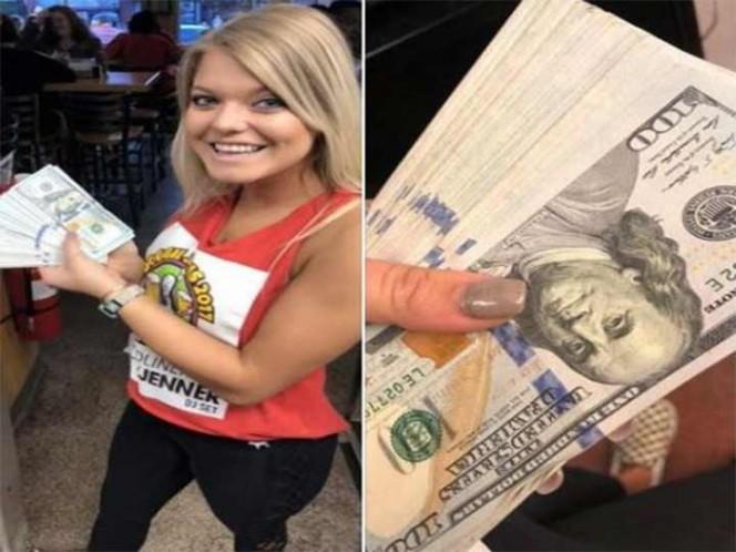 Mesera recibe 10 mil dólares de propina de parte de un youtuber